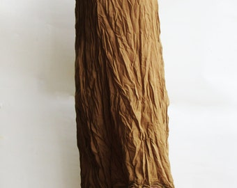D9, Sand Two Tone Two Layers Sleeveless Cotton, Yellow Brown Dress, Maxi