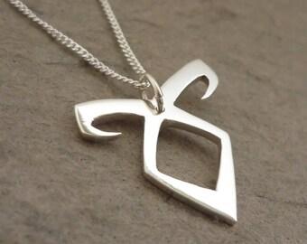 Angelic Rune Sterling Silver handmade Pendant