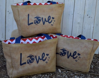 10 Eco Friendly Custom Wedding Tote Bags - Handmade from Recycled Coffee Sacks