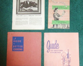 Lot of 4 Recipe Gas Company Cookbooks from the 50s & 60s