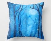 Fog and Fireflies Art Pillow Abstract Alders