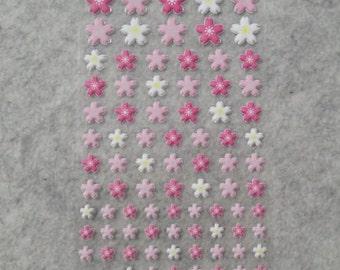 Mixed Sweet Puffy Love Pink Sakura Stickers
