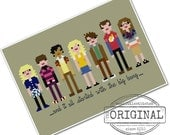 The *Original* Pixel People - The Big Bang Theory - PDF Cross Stitch Pattern - INSTANT DOWNLOAD