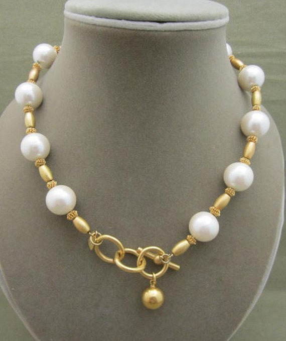 Anne Klein Pearl Beaded Strand Necklace