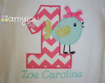 Birthday Chick Bird Birthday Toddler Tee Shirt - Short and Long Sleeves Available