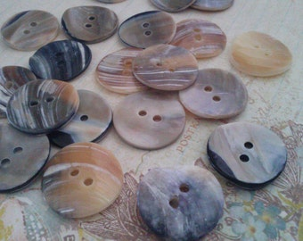 20 Pieces  1 Inch 23 mm Mother Pearl Shell Round Button,  Abalone Buttons , Sewing Buttons
