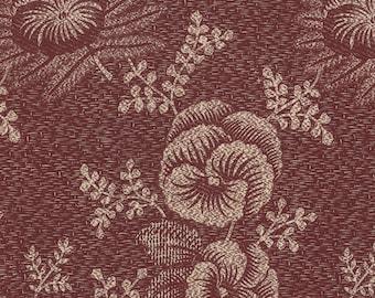 Plum Sweet - Pansy in Plum Blush by Blackbird Designs for Moda Fabrics