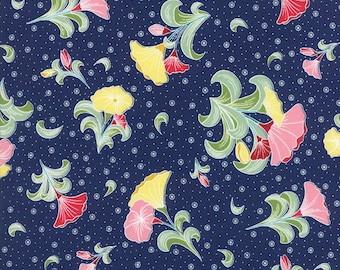 Pedal Pushers - Large Bouquet in Night by Lauren & Jessi Jung for Moda Fabrics - Last Yard