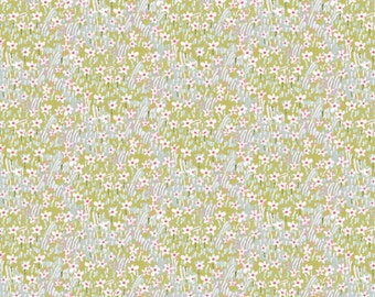 Good Company - Field of Flowers in Blue by Cori Dantini for Blend Fabrics
