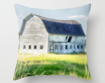 Pillow Cover, Barn, Country, Farm, Decorative Throw Pillow Cover, fPOE, 16x16, 18x18, 20x20