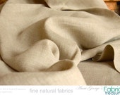 "Natural Linen Fabric. Unbleached natural. Medium weight for jacket. Fall fashions. Belgian Linen. Sofa covers, burlap bags etc. 58"" W"