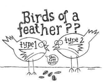 Birds of a Feather - Pen & Ink Illustration