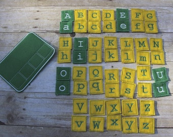 Felt Spelling Board and Letters, Handcrafted, Learning Tool, Educational, Numbers, Counting, Birthday, Holiday Gift