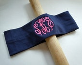 MONOGRAMMED Headband FULLY CUSTOMIZABLE in your favorite colors