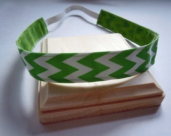 Chevron Hair Band Adjustable NO SLIP Headbands, Great for Runner's, Athletes, Spirit Wear and More