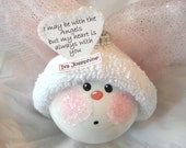 Memorial Angel Color Choice Pink Blue Red Christmas Townsend Custom Gifts Personalized Handmade Name Tag Sample - F