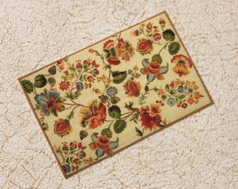 Dollhouse Miniature Rug Needlepoint Design in One Twelfth Scale