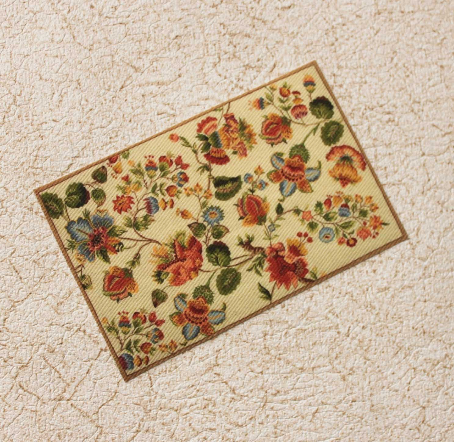 Dollhouse Miniature Rug Needlepoint Design In One Twelfth