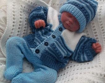 Knitted Flowers Pattern : Baby Knitting Pattern - Boys, Girls or Reborn Dolls Digital Download PDF Knit...