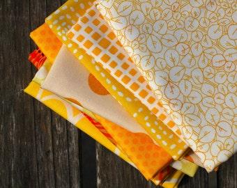YELLOW-Color STASH BUILDER Bundle- Fat Quarter Bundle- Sunshine