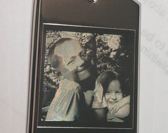 Custom Engraved PHOTO Dog Tag in Stainless Steel