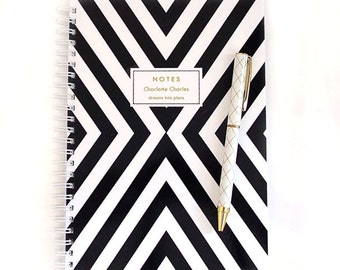 Personalized Notebook - X Stripe