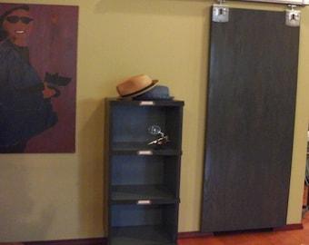 Handmade Distressed Postal Cabinet Bookcase
