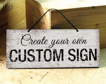 LONDON - Custom Signs in White, Brown, Blue, Navy, Black. Office Sign. Coffee Shop. Wedding Sign. Rustic Sign. Bar Sign. Fathers Day Gift