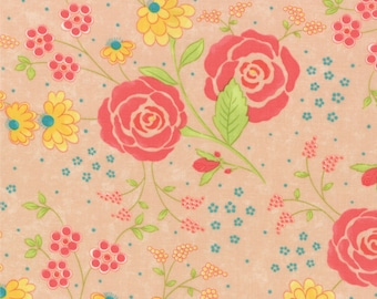 Chance of Flowers by Sandy Gervais - Rose Large Floral (17761-12) - 1 Yard