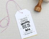 Personalized Custom Gift Rubber Stamp for presents, gift tags and packages