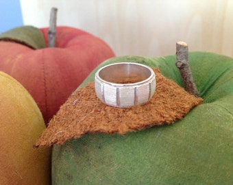 Silver .999 Brushed Band Ring