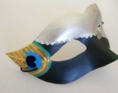 Male Masquerade Mask- peacock mask