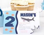 Take a Bite - Shark Birthday Summer Party Invitation