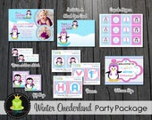 Winter ONEderland Party Package / Winter Onederland Invitation / Onederland Party / Winter Birthday / Birthday Invitation