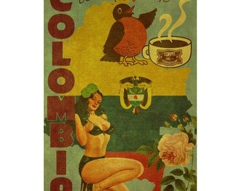 COLOMBIA 2FS- Handmade Leather Photo Album - Travel Art