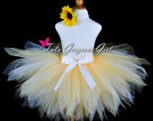 Yellow Summer Sunflower Tutu...First Birthday Tutu, Dance Recital, Halloween Sunflower Costume...Baby, Toddler, Girls . . . SUNFLOWER PIXIE