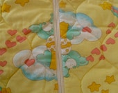 Vintage Care Bear Baby Blanket Sleeping Bag