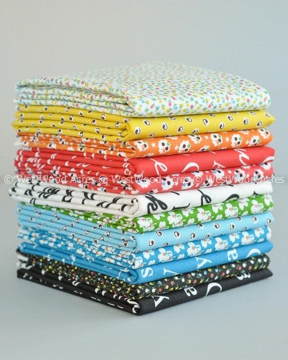 A is for... Fat Quarter Bundle of 12 from My KT for Windham Fabrics