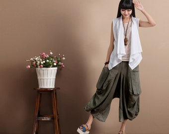 Casual Loose Fitting Comfortable and casual harem pants-  (R)Women Clothing (QK001)