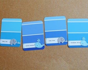"Handmade ""Baby Boy"" Embellished Project Life Journaling Cards."