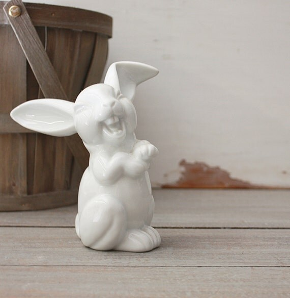 Vintage White Porcelain Rabbit by Rosenthal