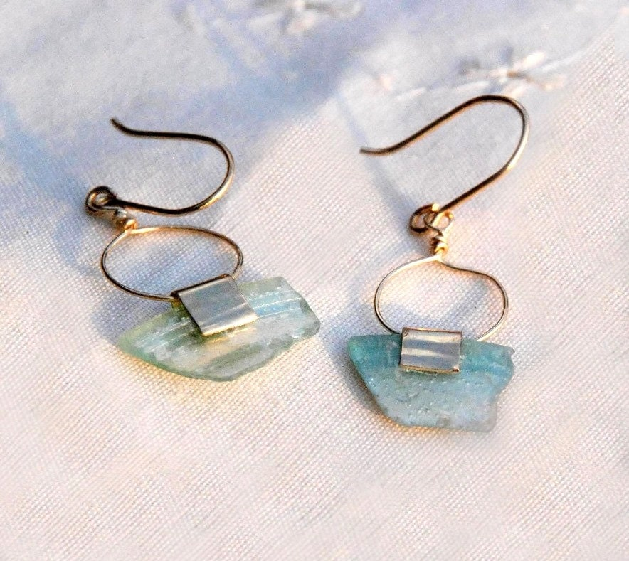 Iridescent Roman Glass Earrings. Roman Glass Jewelry. Long Ancient Roman Glass Gold Filled Earring. Roman Glass Jewelry. Antique Glass.