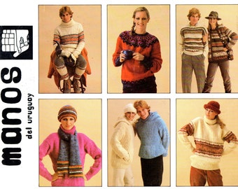 MANOS DEL URUGUAY 1980 Knitting Pattern Book