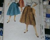 """Vintage 1955 McCall's Pattern 3341 for Misses Skirt, Waist 28"""""""