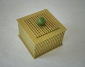 Green Stripe Handmade Box