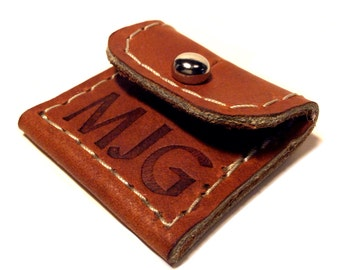 Personalized Leather Guitar Pick Case Keychain, Guitar Pick Holder,