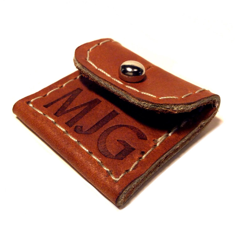 personalized leather guitar pick case keychain guitar pick. Black Bedroom Furniture Sets. Home Design Ideas