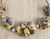 Oak Tree - lampwork bead set