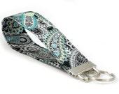 SPECIAL: Buy Three Get One Free > Silver Metallic Paisley - Key Fob Wristlet