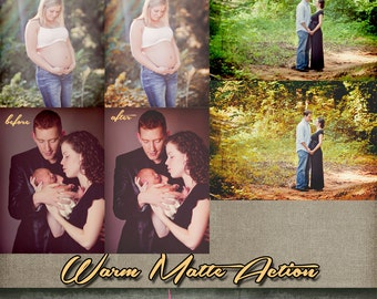 Warm Matte Photoshop Action INSTANT DOWNLOAD the only one you will ever need! fully layered for complete customization